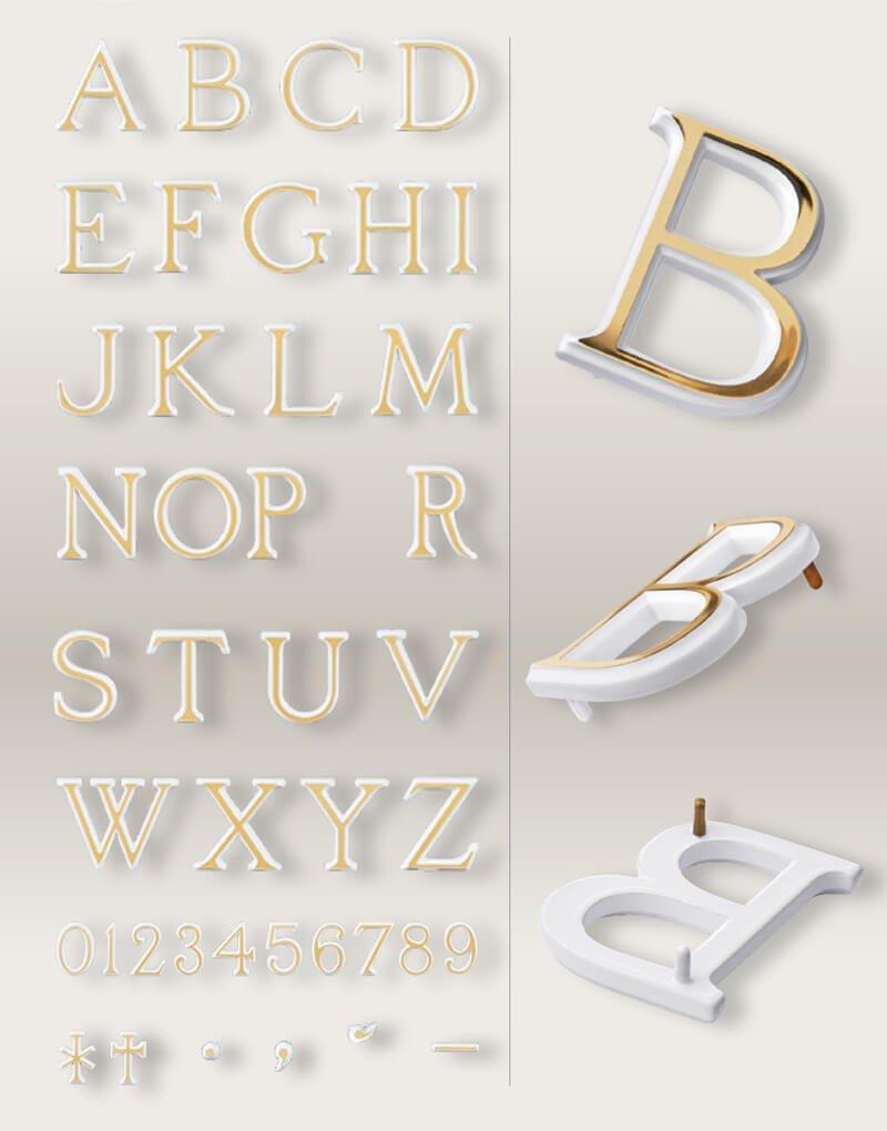 Tipografia Bronce LYDIAN Blanco