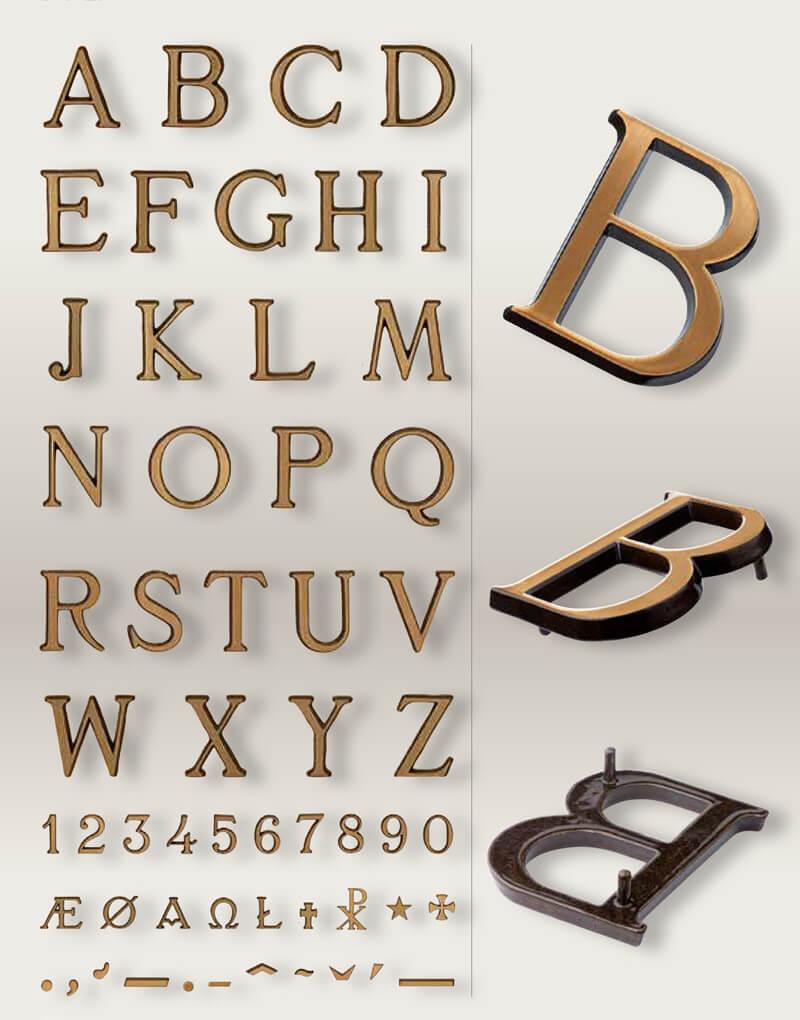 Tipografia Bronce ROMANA