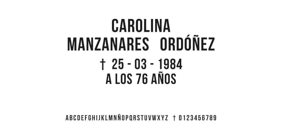 Tipografia MORENO ESTRECHA #01
