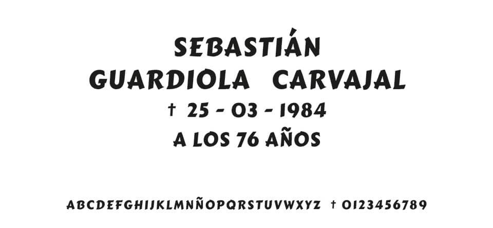 Tipografia MORENO MARKER