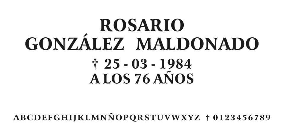 Tipografia MORENO ROSMALD