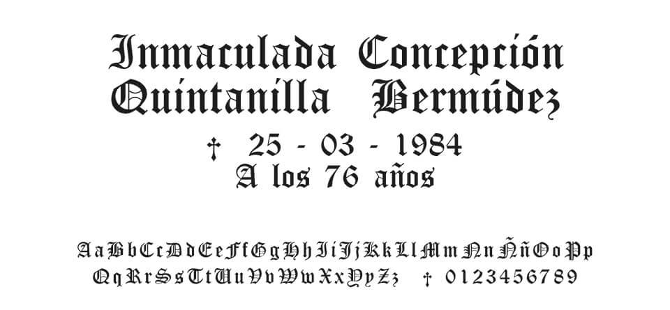 Tipografia Moreno Gótica #01