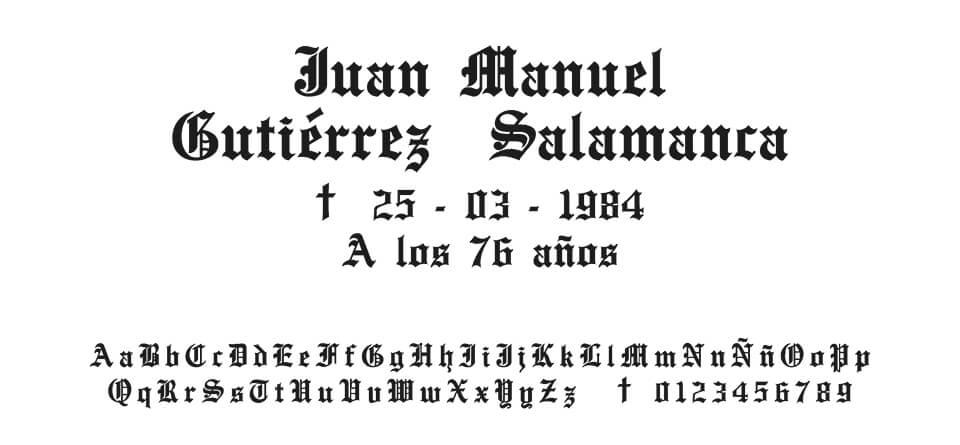 Tipografia Moreno Gótica #02