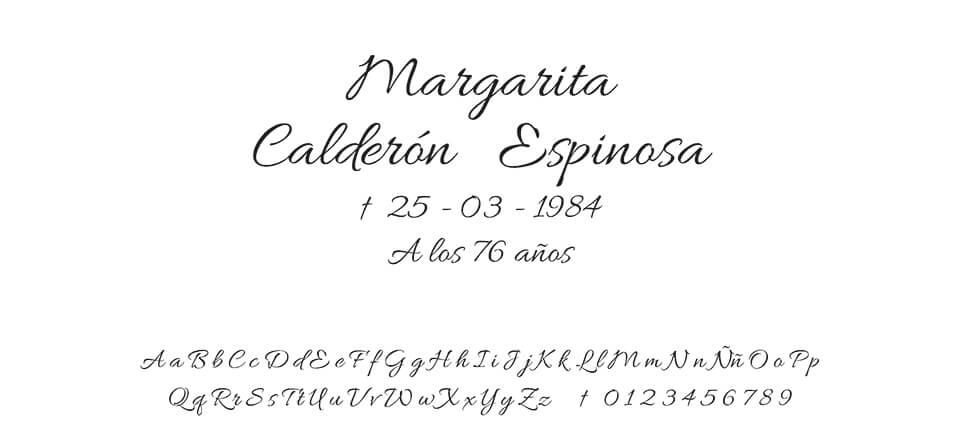Tipografia Moreno Script #01