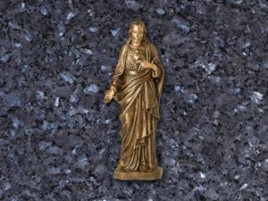 Corazon de Jesus de bronce