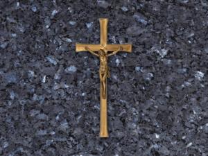 Cruz de bronce con cristo para lapidas