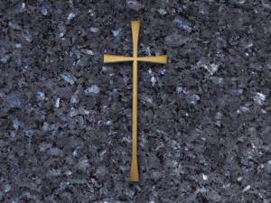 Cruz de bronce para lapidas
