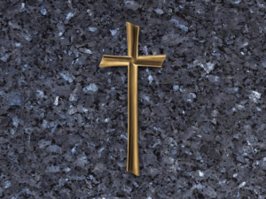 Cruz de bronce relieve para lapidas