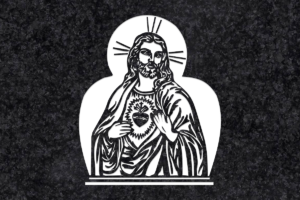 Diseño para Grabado Corazón de Jesús 017
