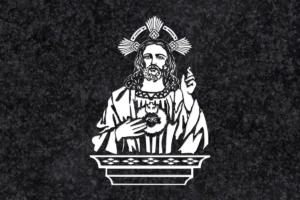 Diseño para Grabado Corazón de Jesús 080