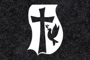 Diseño para Grabado Cruz con paloma 058