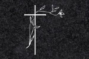 Diseño para Grabado Cruz con rama 122