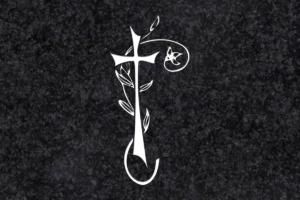 Diseño para Grabado Cruz con ramo 124