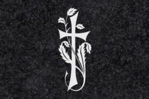 Diseño para Grabado Cruz con hojas 219