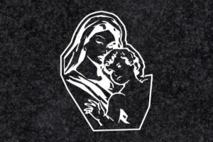 Diseño para Grabado Virgen 026