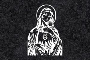 Diseño para Grabado Corazón de María 095