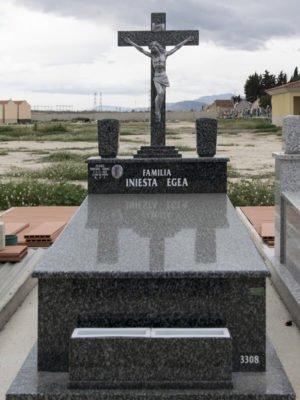 Lápida con cristo en acero inoxidable
