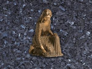 Mujer recuerdo de bronce para lapidas