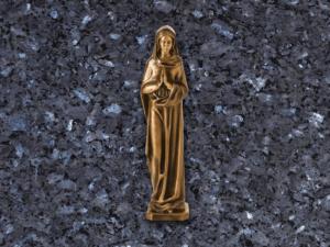 Virgen de bronce para lapidas