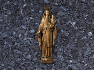 Virgen del Carmen de bronce