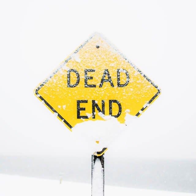 Carretera cortada - Final del camino