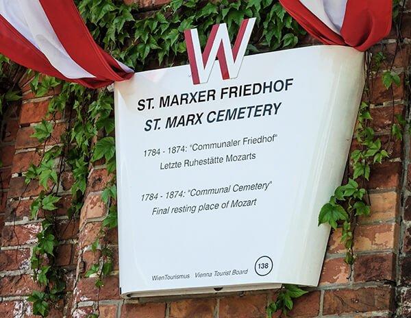 Información turística en la puerta del cementerio de Saint Marx