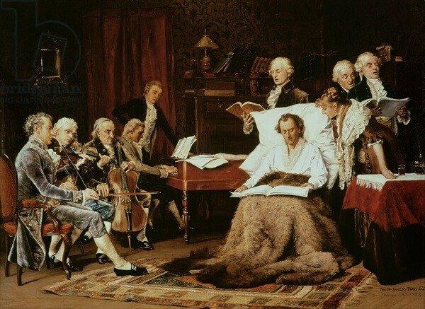 Semanas antes de la muerte de Mozart