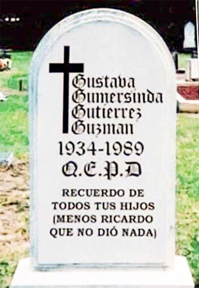 Hasta el nombre de la difunta es gracioso en esta lápida