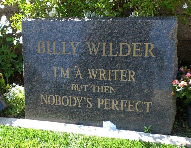 Lápida de Billy Wilder Wikipedia