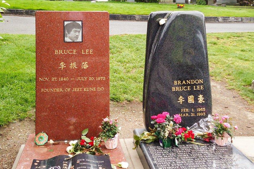Lápida de Bruce Lee