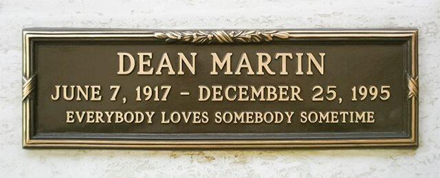 Lápida de Dean Martin