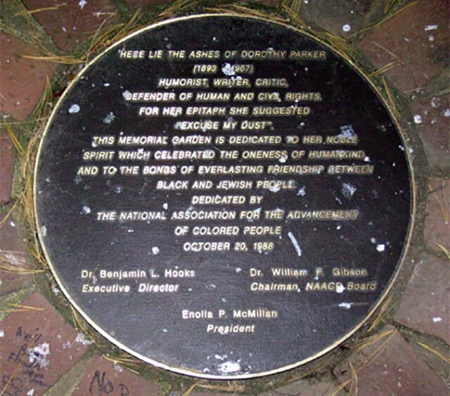 Lápida de Dorothy Parker