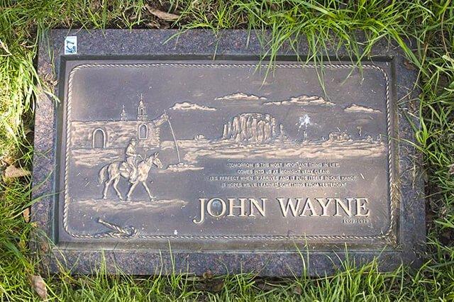 Lápida de John Wayne