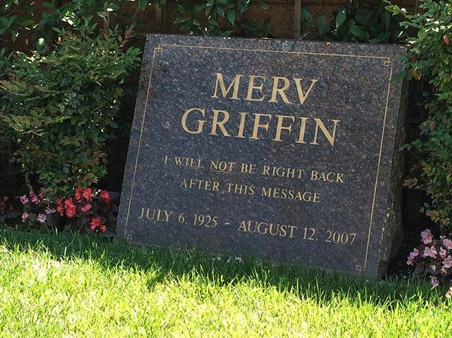 Lápida de Merv Griffin