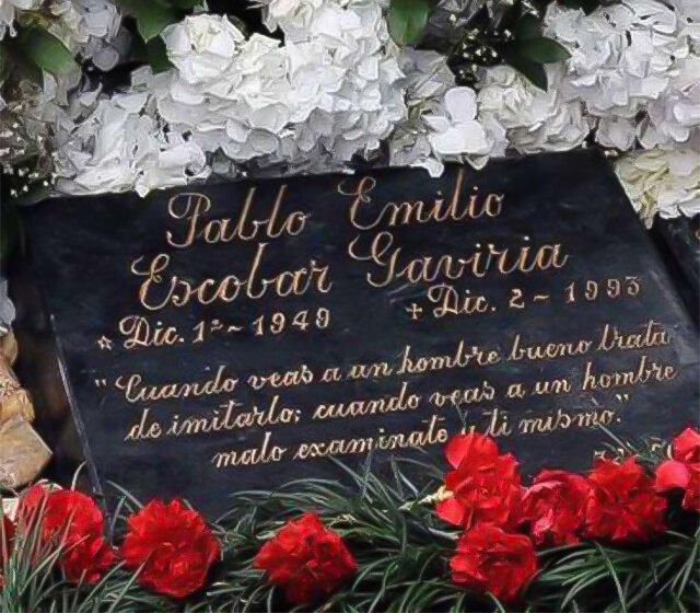 Lápida de Pablo Escobar Alertadigital