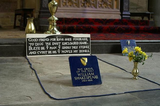 Lápida de William Shakespeare