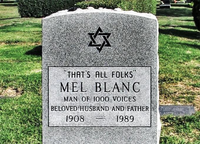 Lapidas graciosas - Mel Blanc - Eso es todo amigos