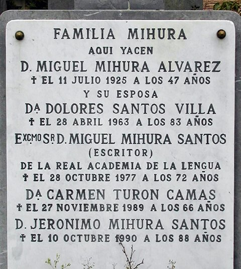 Tumba de la familia Mihura