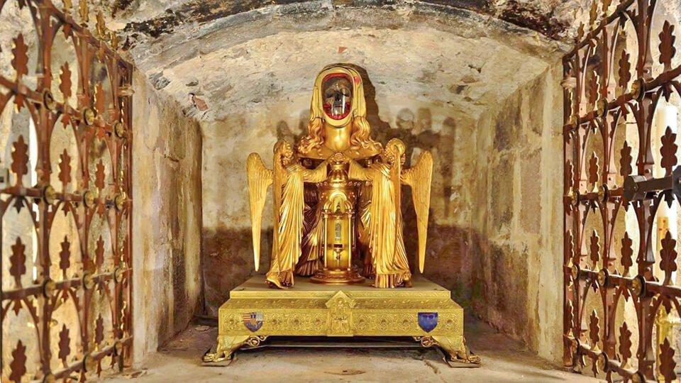 Cabeza de Santa María Magdalena. Basílica de Saint Maximin la Sainte Baume