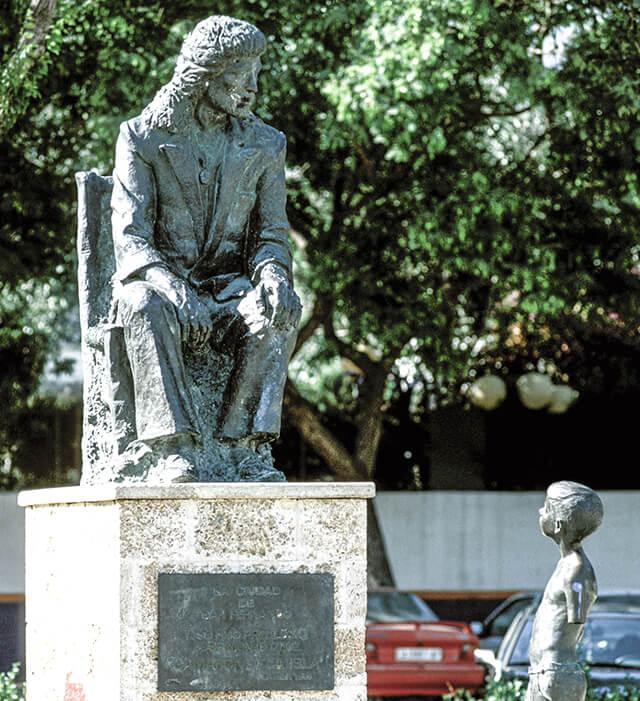 Estatua a Camarón de la Isla en su pueblo Natal