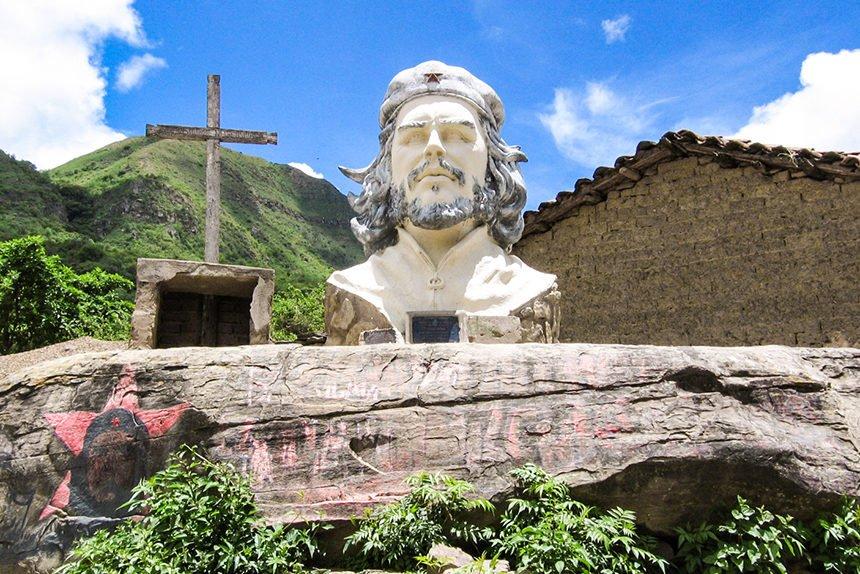 Recuerdo al Che Guevara en La Higuera Bolivia